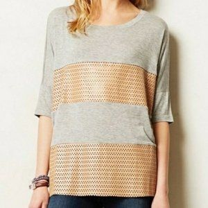 Anthropologie Sunday In Brooklyn Perforated Tee